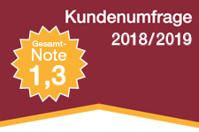 Note 1,2 in der Kundenumfrage 2017/2018